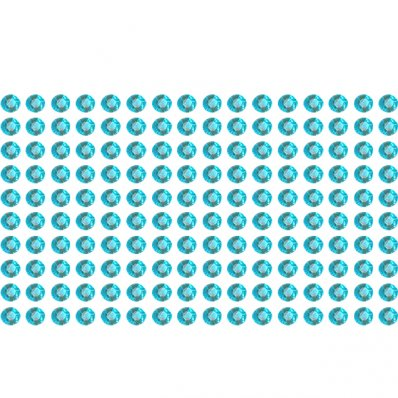 160 blue rhinestone sticker