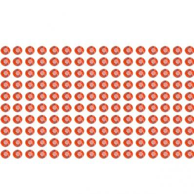 160 Estrás adhesivos rojo