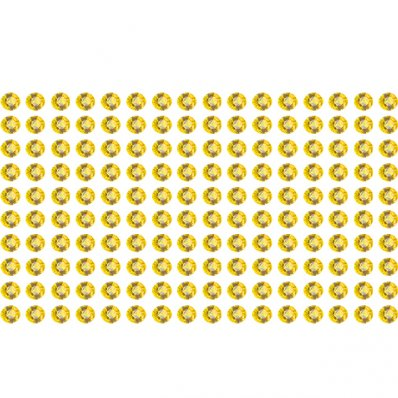 160 Strass Stickers d'oro