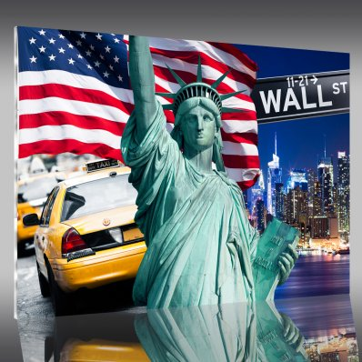 Acrylglasbild Wall Street