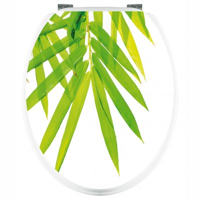 Adesivo copri WC foglie