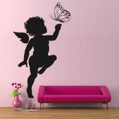 Adesivo Murale angelo farfalla