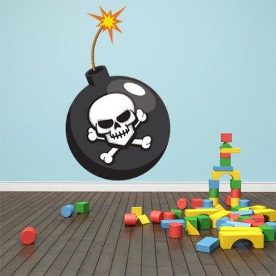 Adesivo Murale bambino bomba pirata