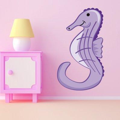 Adesivo Murale bambino cavalluccio marino
