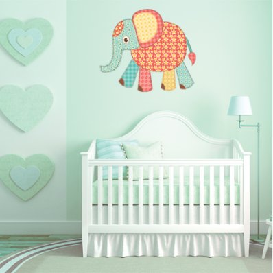 Adesivo Murale bambino elefante
