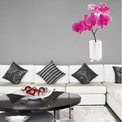 Adesivo Murale bambino fiore vaso orchidea