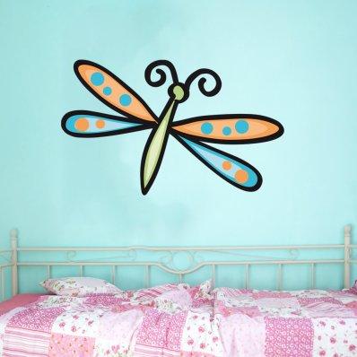 Adesivo Murale bambino libellula