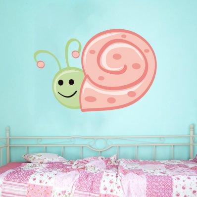 Adesivo Murale bambino lumaca