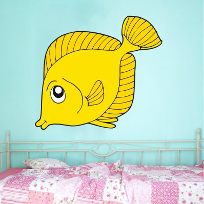 Adesivo Murale bambino pesce