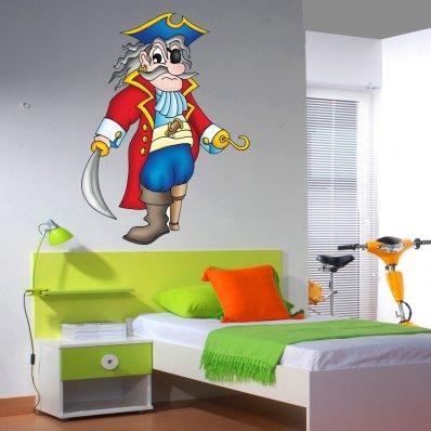 Adesivo Murale bambino  pirata