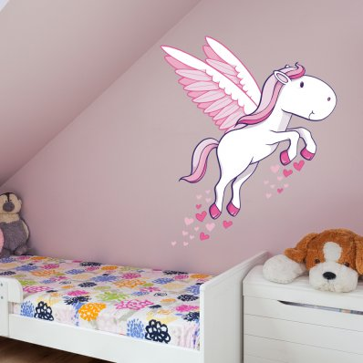 Adesivo Murale bambino pony
