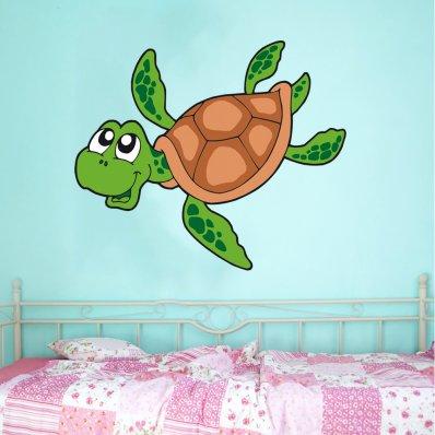 Adesivo Murale bambino tartaruga