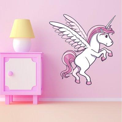 Adesivo Murale bambino unicorno