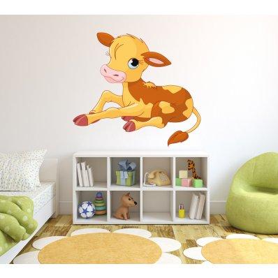 Adesivo Murale bambino vitello