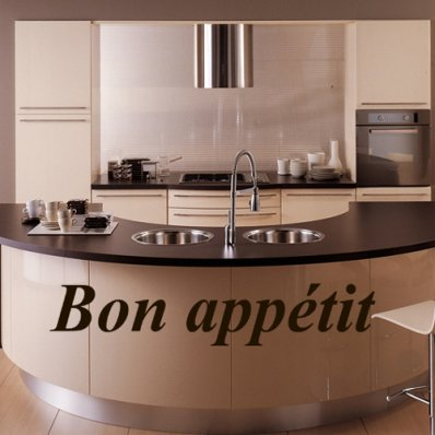 Adesivo Murale ''Bon Appétit''