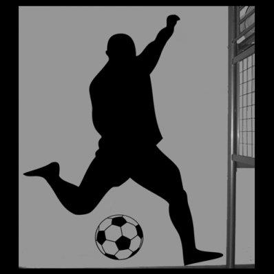Adesivo Murale calciatore