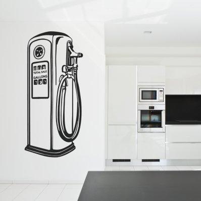 Adesivo Murale distributore benzina