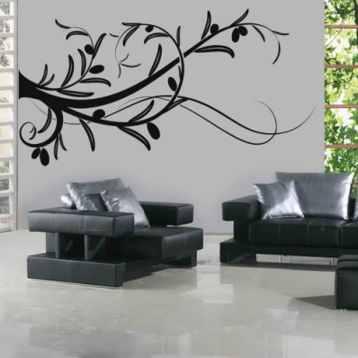 Adesivo Murale ramo d'ulivo