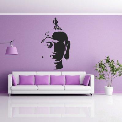 Adesivo Murale testa di Buddha