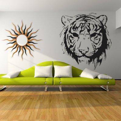 Adesivo Murale testa di Tigre