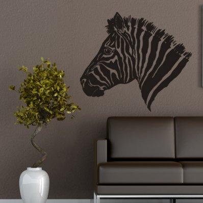 Adesivo Murale testa di zebra
