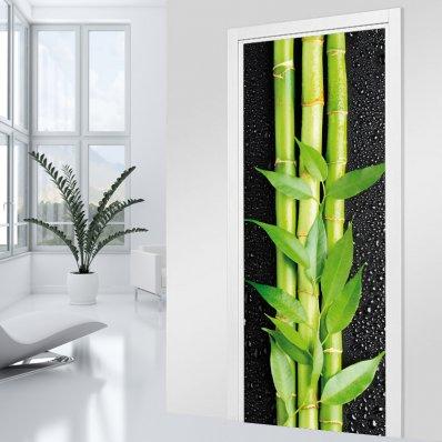Adesivo per porte - bambù