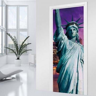Adesivo per porte new york