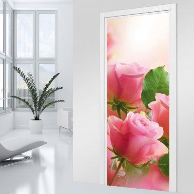 Adesivo per porte rosa