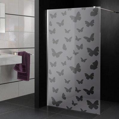 Adesivo sabbiato per box doccia farfalle
