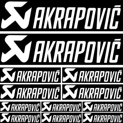 akrapovic Decal Stickers kit