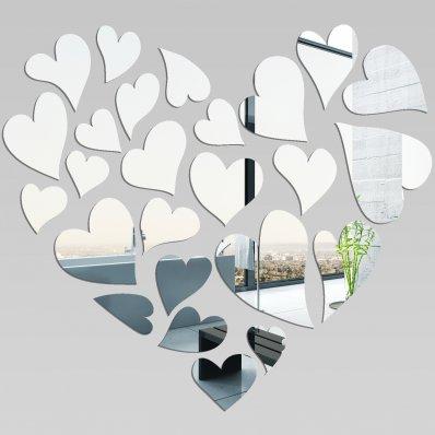 Akrylowe Lustro Plexiglas - Serca w Sercu