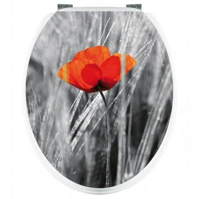 Aufkleber für Toilettendeckel Mohnblumen