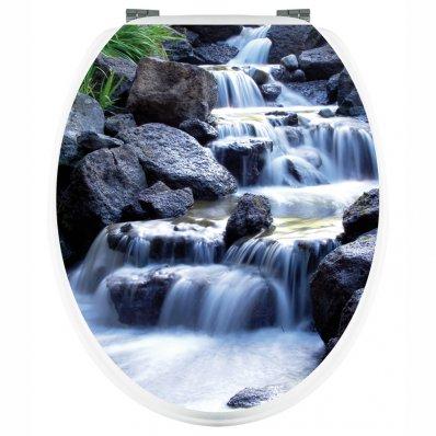 Aufkleber für Toilettendeckel Wasserfall