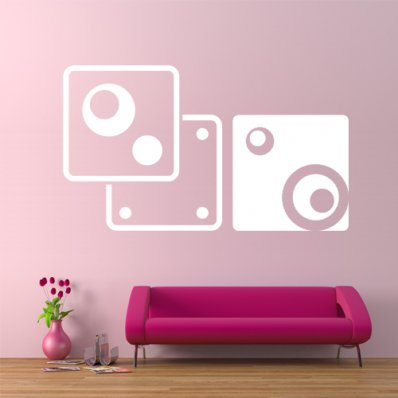 Autocolante decorativo arte