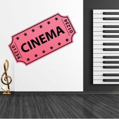 Autocolante decorativo bilhete de cinema