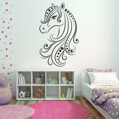 Autocolante decorativo cavalos