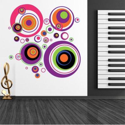 Autocolante decorativo círculo