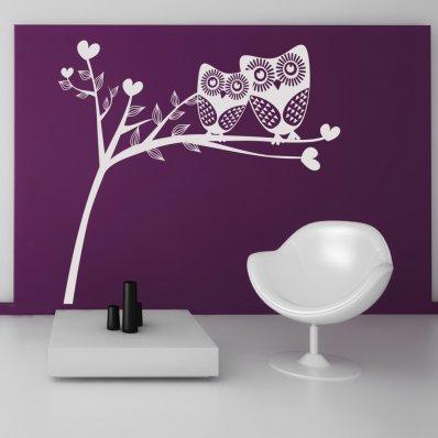 Autocolante decorativo corujas