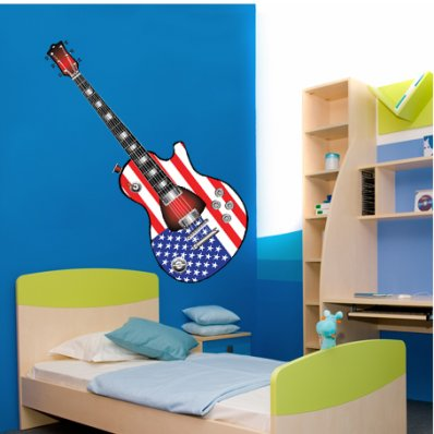 Autocolante decorativo guitarra