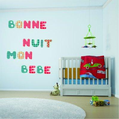Autocolante decorativo infantil alfabeto