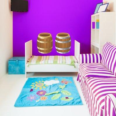Autocolante decorativo infantil barril