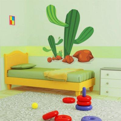 Autocolante decorativo infantil cactus