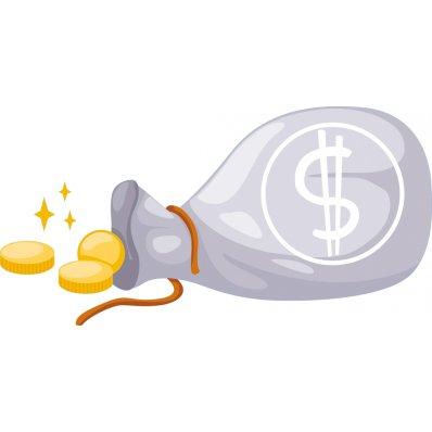 Autocolante decorativo infantil dólares
