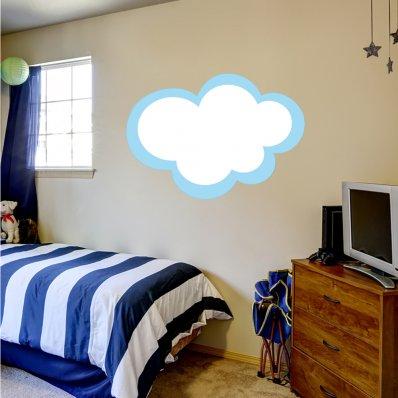 Autocolante decorativo infantil nuvens