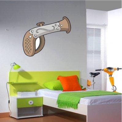 Autocolante decorativo infantil pistola