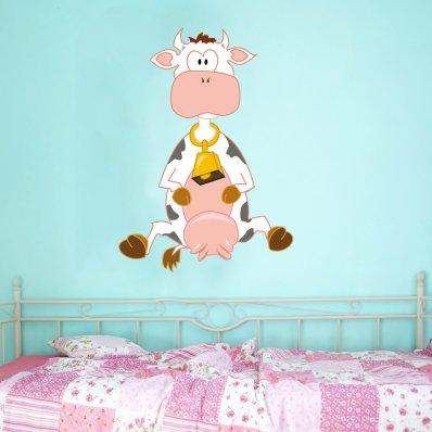 Autocolante decorativo infantil vaca