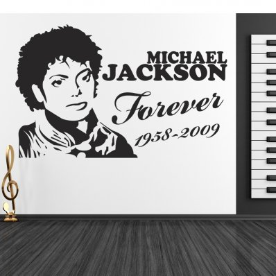 Autocolante decorativo michael jackson
