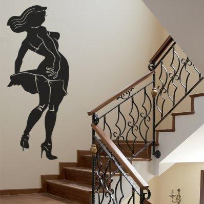 Autocolante decorativo mulher