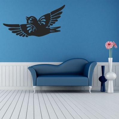 Autocolante decorativo pássaro