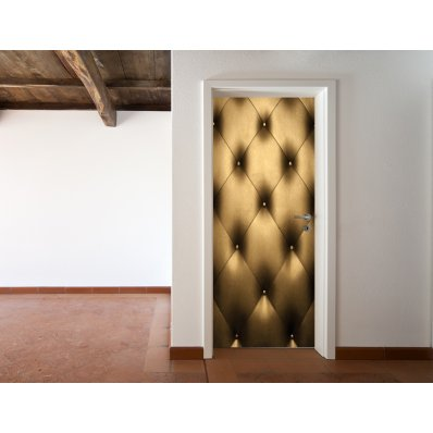 Autocolante para porta acolchoado